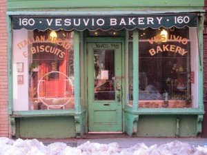 The Birdbath Cafe looks an awful lot like the Vesuvio Bakery.