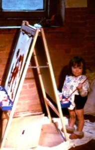 Zoe Paints, ca. 1970 (photo submitted by Jo)