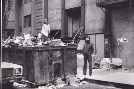 Dumpster diving on Mercer Street, ca. 1977