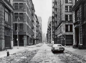 Crosby Street and Spring Street, 1978 (Photo by Thomas Struth)