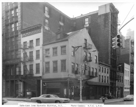 The facade ofthe Broome Street Bar, date unknown (photo: NYC Landmarks Preservation Commission)