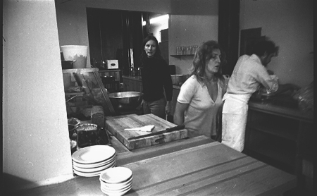 Carol Goodden Suzie Harris in the kitchen of FOOD (photo: Carol Goodden)