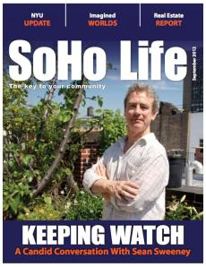 Sean Sweeney on the cover of SoHo Life magazine