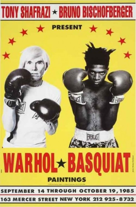 The poster for the Warhol-Basquiat show at Tony Shafrazzi, 1985