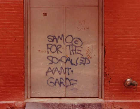 A message from SAMO in a doorway