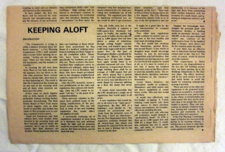 Keeping Aloft - Jim Stratton's regular column in the SoHo News.