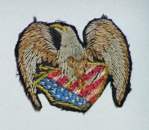Embroidered eagle patch