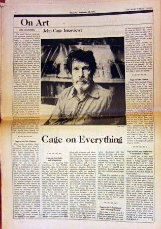 An interview with John Cage