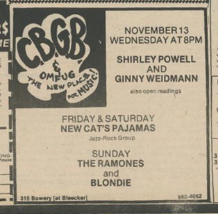 Back when The Ramones and Blondie could only get a Sunday night timeslot