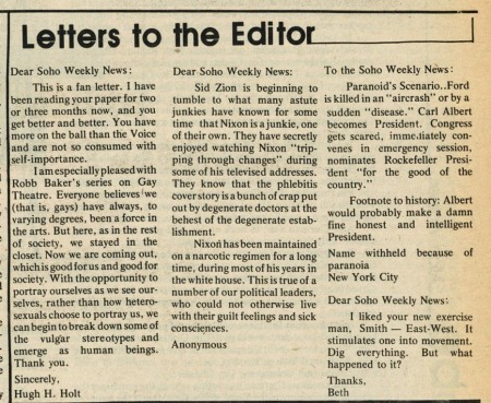 Love these letters to the editor