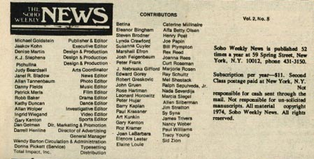 The staff of SWN in November 1974