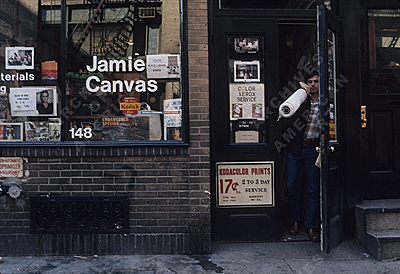 Jamie Canvas store in Soho, 1976 / Robin Forbes, photographer. Robin Forbes' slides of Soho, Archives of American Art, Smithsonian Institution.