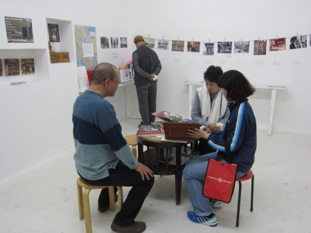 The opening reception for the SoHo Memory Project exhibition.