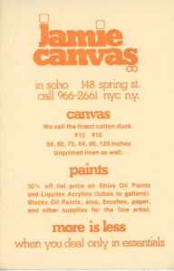 Flyer for Jamie Canvas