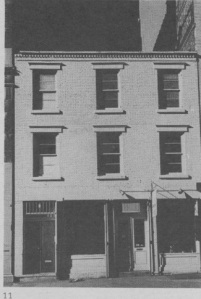 412 West Broadway, a ca. 1825 two-story brick building as it look pre-renovation