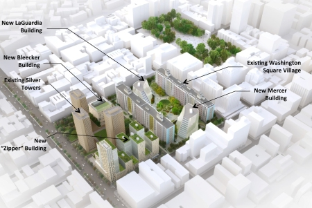 An architect's rendering of proposed plans for new facilities.Photo: AP Photo/New York University (via NY Post)