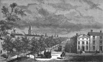 Canal Street: 1800's — In 1807, the city widened a small spring that ran from Collect Pond to the Hudson River and planted rows of trees along both sides of this new canal.  This path was known as Canal Street, even after it was paved over in 1821 because residents complained of its foul smell. (photo: via The Bowery Boys)