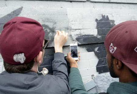 Banksy fans set out to restore the piece using a photo taken on a phone.