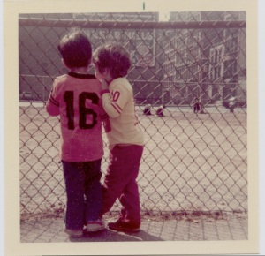 Boys playing at Houston Street lot (image: Nancy Eder)