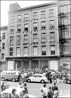 420 West Broadway back when it was the center of SoHo's gallery scene in the early-1970's