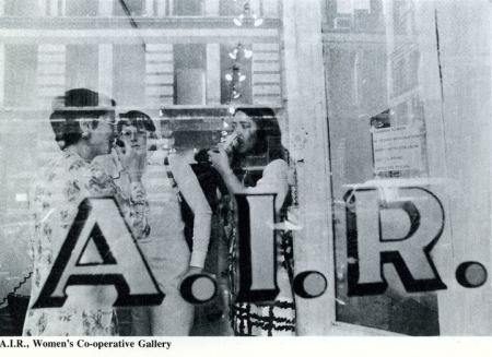 A.I.R. Gallery was a woman's coop gallery first on Crosby Street as suggested by the reflection. (Horizon Magazine)