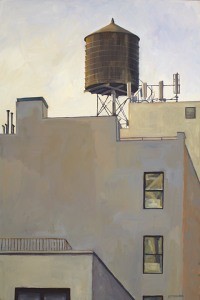 A paining of a water tower by Sophie M.J. Cooper (image: Sophie Cooper)