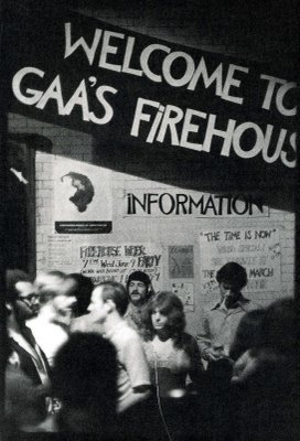 Welcome to GAA's Firehouse (photo: Fred MacDarrah/Queerest Places)