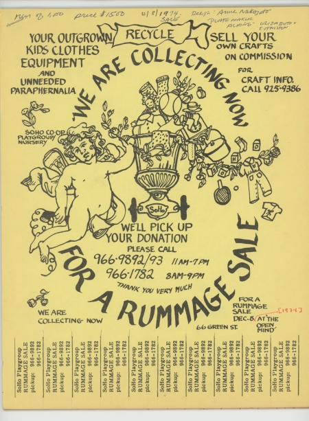 Playgroup Rummage Sale Flyer