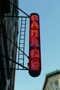 The famous PARKING sign. Where will it go? Perhaps it needs a home in the SoHo archive.