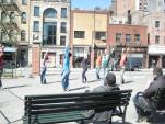 Douglas Dunn + Dancers performs Vain Combat at Petrosino Square, 2010 (photo: Douglas Dunn)
