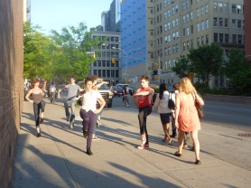 Douglas Dunn + Dancers performs Vain Combat on Houston Street, 2010 (photo: Douglas Dunn)