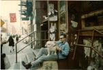 Rick Parker and his dog on Prince Street (photo: Rick Parker)